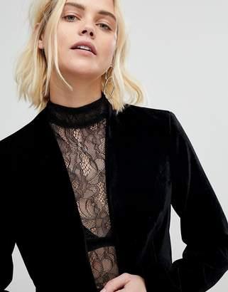 New Look Velvet Crop Blazer