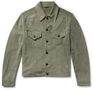 Valstar Slim-Fit Suede Trucker Jacket