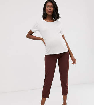 Asos DESIGN Maternity under the bump pull on tapered pants in jersey crepe