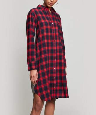 Clu Mix Media Plaid Dress