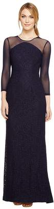 Adrianna Papell Lace Modified Mermaid Gown Women's Dress