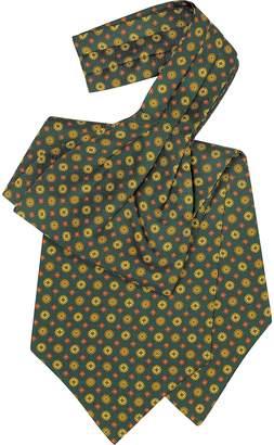 Forzieri Floral Print Silk Tie Ascot