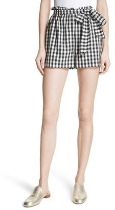 Joie Cleantha Gingham Cotton Shorts