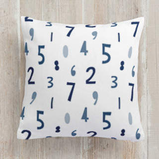 Number Crunch Square Pillow