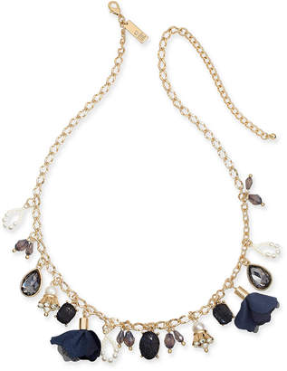 """INC International Concepts I.N.C. Gold-Tone Multi-Charm Collar Necklace, 16"""" + 3"""" extender, Created for Macy's"""