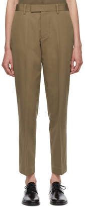 Helmut Lang Beige Cropped Trousers