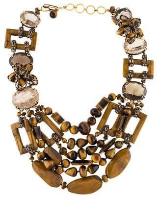 Iradj Moini Tiger's Eye & Quartz Multistrand Necklace