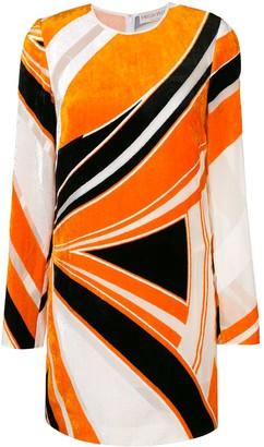 Emilio Pucci velvet abstract print dress