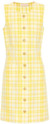Tory Burch Checked cotton-blend dress