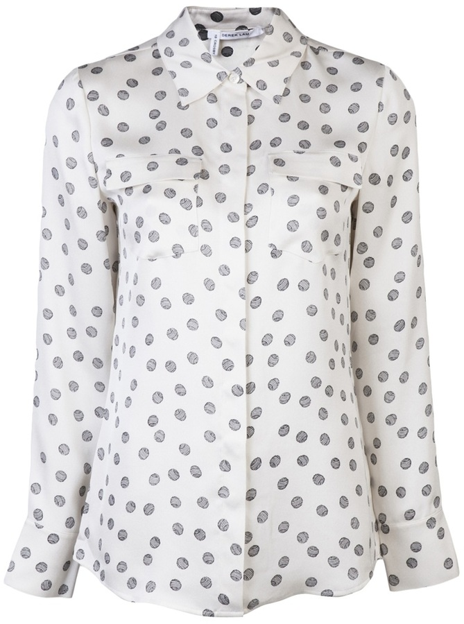 Derek Lam 10 Crosby By Printed shirt