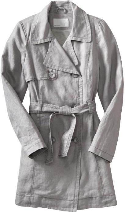 Women's Linen-Blend Trench Coats