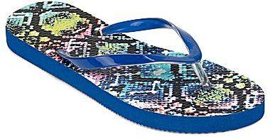 JCPenney Zori Print Flip Flops