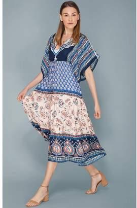 Hale Bob Eleni Kimono Sleeve Midi Dress