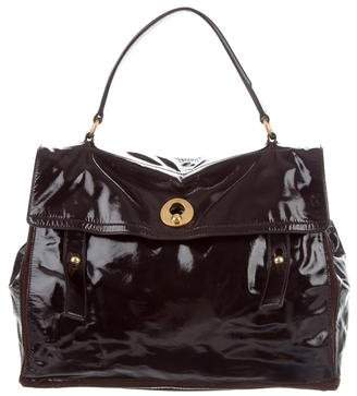 Saint Laurent Patent Leather Muse Two Bag