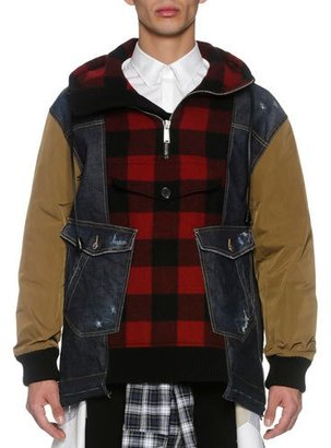 Dsquared2 Denim & Flannel Anorak, Multicolor $1,690 thestylecure.com