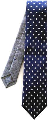 Jacqueline Rousseau Navy Dots Necktie