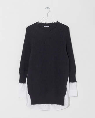 Alexander Wang Hybrid Varsity Sweater Dress