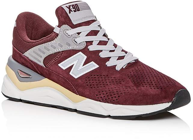 New Balance Men's X-90 Suede Lace-Up Sneakers