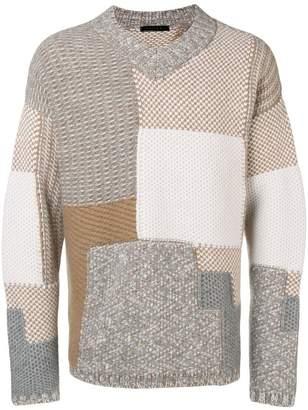 Falke colour block knit sweater