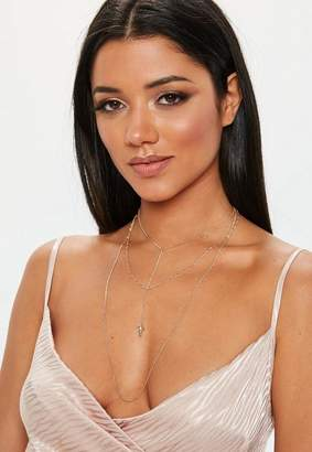 Missguided Look Cherub Layered Necklace