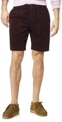 "Todd Snyder 9"" Stretch Italian Corduroy Camp Short in Burgundy"