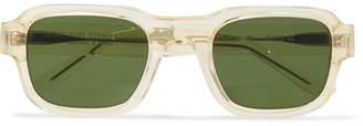 Thierry Lasry Enfants Riches Déprimés The Isolar Square-frame Acetate Sunglasses - Yellow