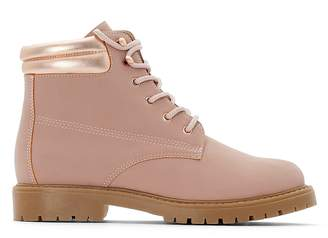 La Redoute COLLECTIONS Pink Lace-Up Ankle Boots