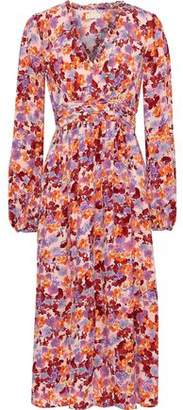 By Ti Mo Bytimo Gathered Floral-print Crepe De Chine Midi Dress