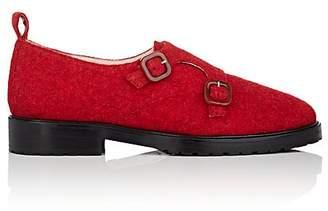LEANDRA MEDINE Women's Wool Double-Monk-Strap Loafers