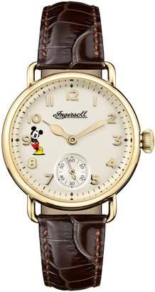 Ingersoll WATCHES Trenton Disney Leather Strap Watch, 31mm