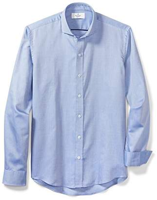 Buttoned Down Men's Slim Fit Supima Cotton Cutaway-Collar Sport Shirt