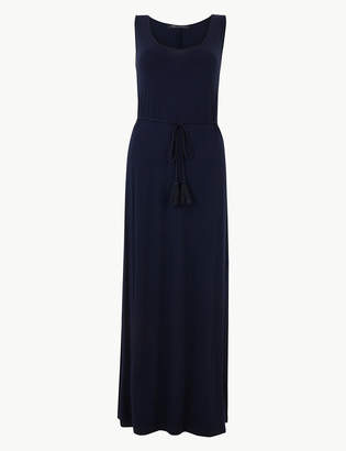 Marks and Spencer Tie Waist Jersey Swing Maxi Dress