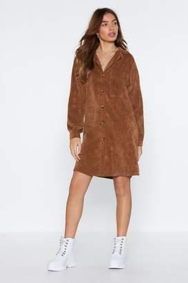 Nasty Gal Womens What Shirts The Most Corduroy Shirt Dress - Beige - 6