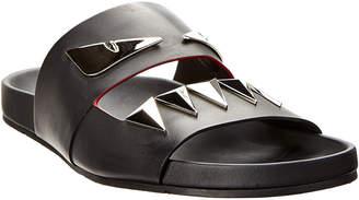 Fendi Leather Slide Sandal