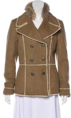 Prada Sport Fox Fur-Trimmed Wool Jacket