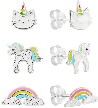 Revere Sterling Silver Unicorn Stud Earrings