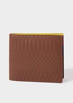Paul Smith No.9 - Brown Leather Billfold Wallet With Multi-Coloured Interior