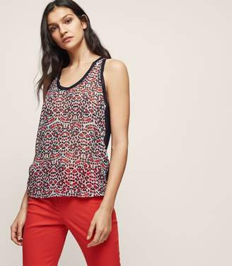 Reiss Lexi Printed Jersey-Back Tank Top