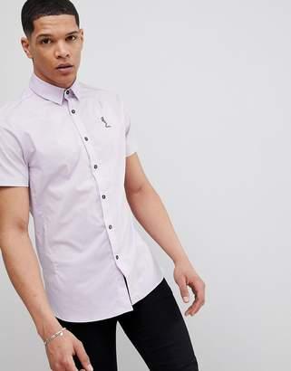 Religion Skinny Short Sleeve Shirt In Light Purple