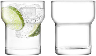 LSA International Utility Blown Glass Tumbler - Set of 2 - Clear