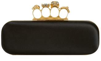 Alexander McQueen Satin Knuckleduster Clutch Bag