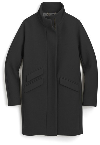 Petite Women's J.crew Stadium Cloth Cocoon Coat