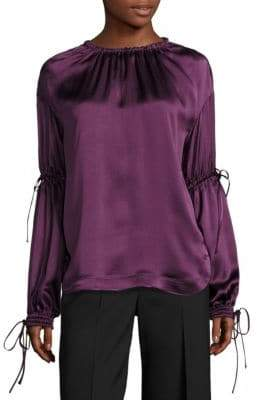 Aquilano Rimondi Silk Ruched Blouse