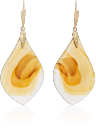 Annette Ferdinandsen 18K Gold Agate Earrings