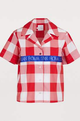 Stella Jean Plaid cotton blouse