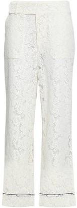 Ganni Jerome Corded Lace Wide-leg Pants