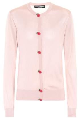 Dolce & Gabbana Embellished silk cardigan