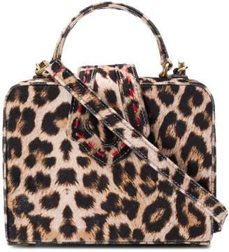Mehry Mu leopard box crossbody bag