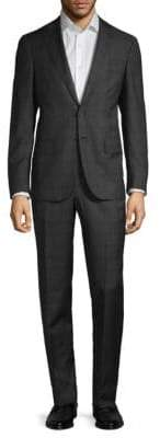 Isaia Classic-Fit Plaid Wool Suit