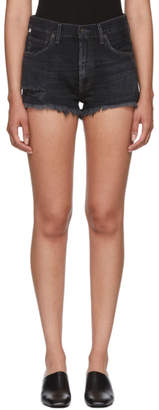 Citizens of Humanity Black Danielle Cut-Off Shorts